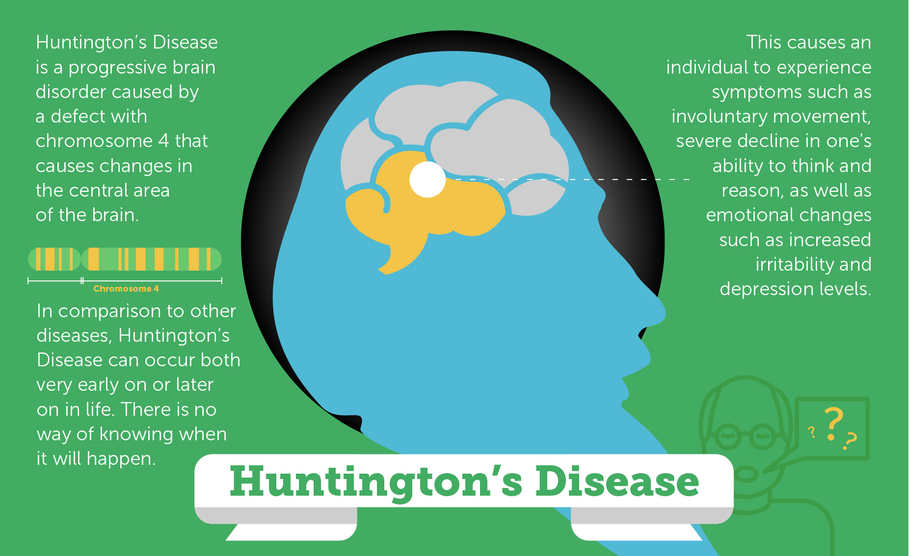 the causes symptoms and treatment of huntingtons disease